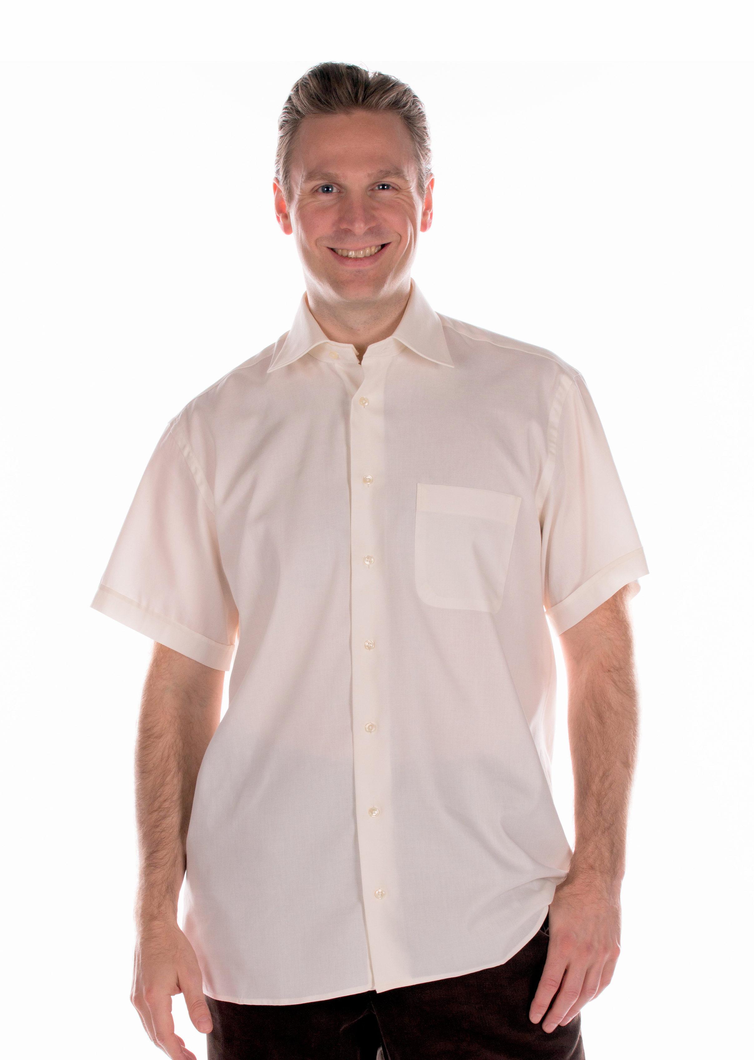 Korte Mouw Overhemd Mannen.Heren Overhemd Korte Mouw Overslag Achterkant Zorgvrij